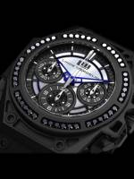 Linde Werdelin SpidoSpeed Black Diamond Chronograph watch