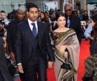 Aish with her partner at World Film Premiere