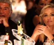 Roberto Cavalli and Sharon Stone