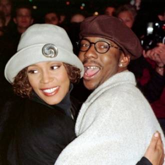 Whitney Houston with partner Bobby
