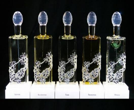 Limited edition series of Chantecaille fragrance bottles by Cimon Art