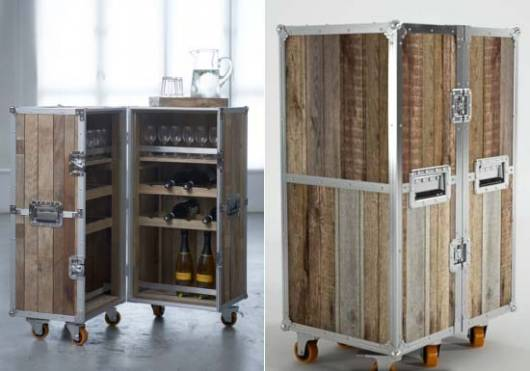 Roadie Mini Bar inspired by touring road crews and their travelling cases