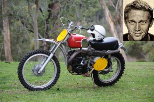 Steve McQueen's Husqvarna 1970 Husqvarna 400 Cross on auction block