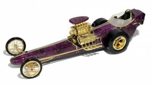 Bonhams to offer carved ruby dragster model car with a gold engine estimated to fetch up to $200k
