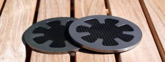 black badger carbon fiber coasters 4