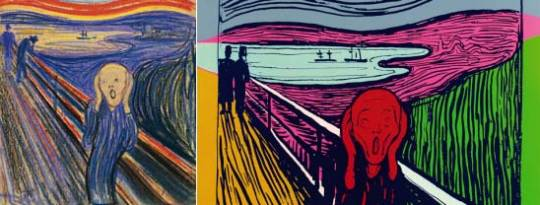 Andy Warhol's screenprints inspired by Edvard Munch's