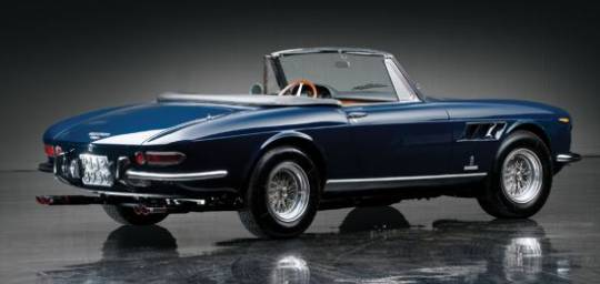 1967 Ferrari 330 GTS which has laurels like 2011 Concorso Italiano Best of Show award