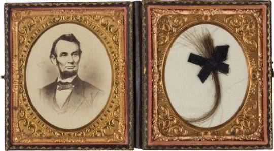 Lock of Lincoln's hair