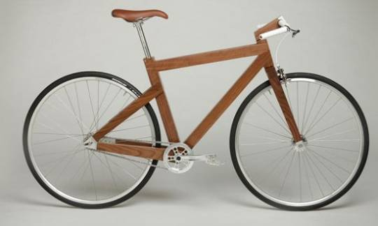 Elegant Black Walnut wooden bike form Lagomorph design