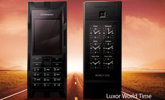 gresso luxor world time mobile phone