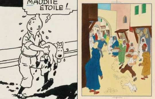 Tintin Shooting Star artwork sold for $288,300 at Sotheby's comic strip sale in Paris