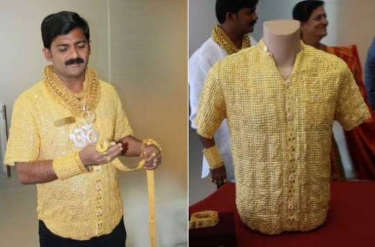 Most expensive shirt made of gold