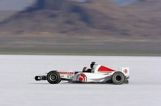 formula 1 world land speed record honda bonneville