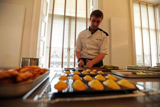 Chef Mike Mathieson preparing some of the finest cuisines.