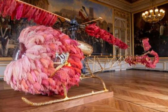 Gilded Helicopter 'Lilicoptere' is Joana Vasconcelos' vision of what Last French Queen Marie Antoinette would fly in