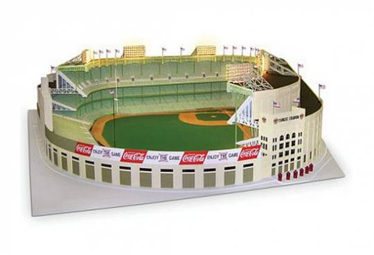 Hammacher Schlemmer scale model Yankee Stadium