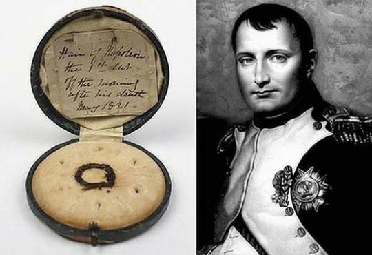 Lock of Napoleon's hair