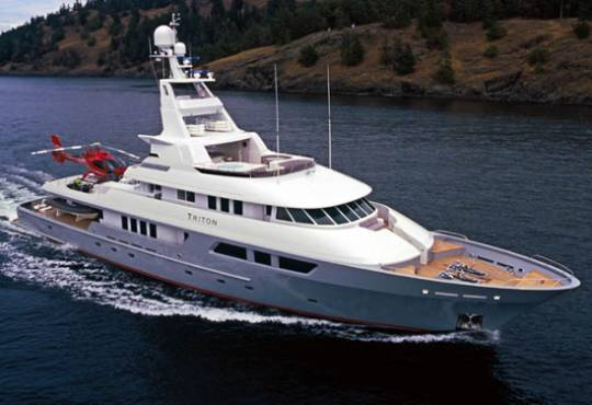 The 163-foot long Triton megayacht by Delta Marines