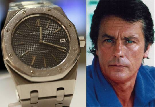 Alain Delon and his famous Audermars Piguet Royal Oak watch