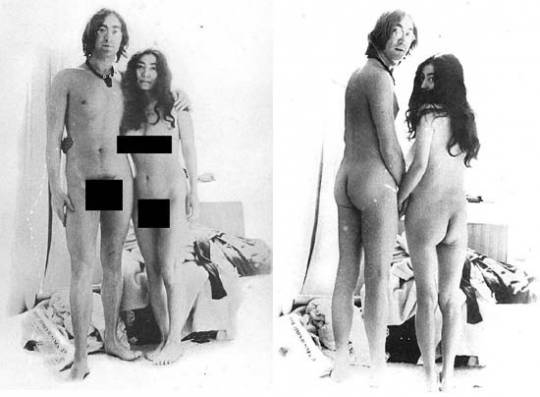 John Lennon and Ono Nude images