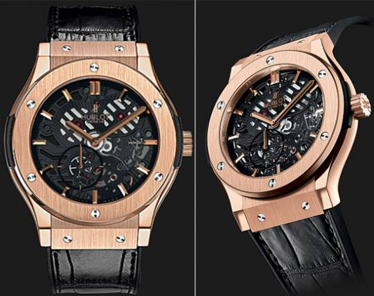 Hublot limited edition extra thin King Gold watch