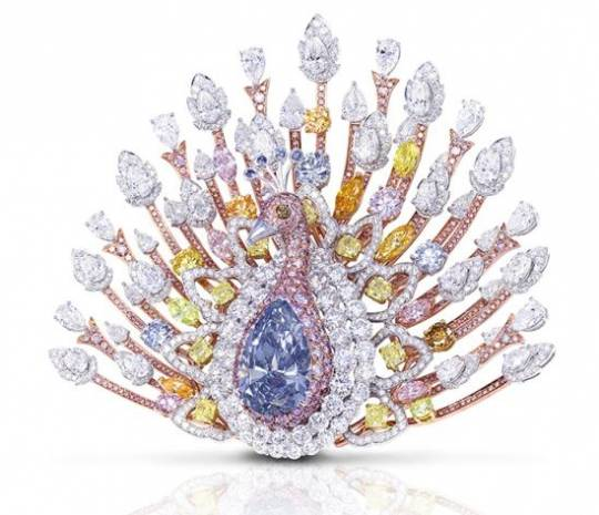 $100 million Graff 'Peacock' Brooch