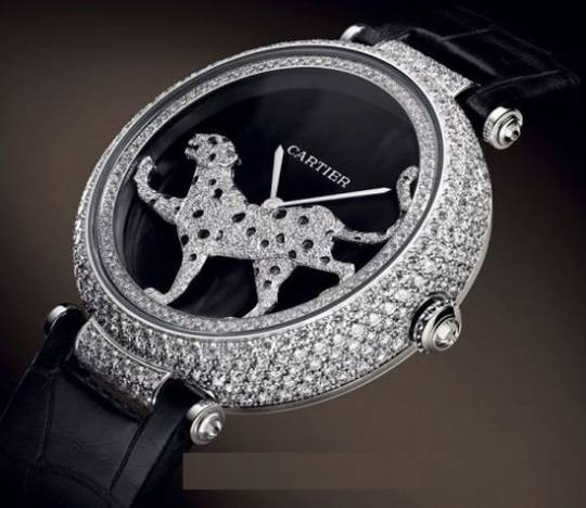 Cartier Masse Secrete Panther Decor Watch side view