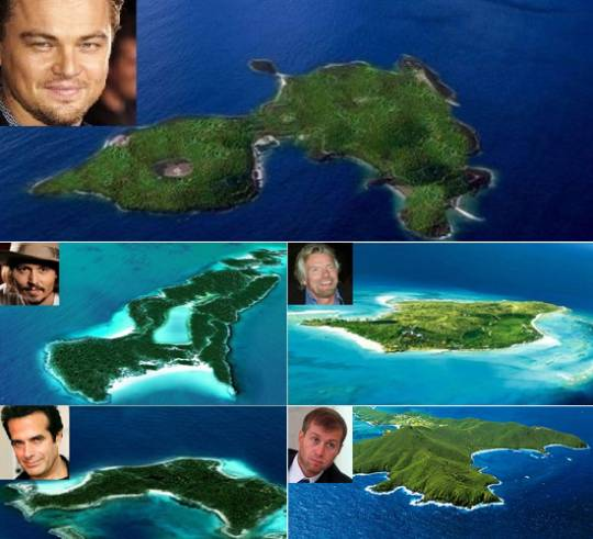 Private Islands of the rich