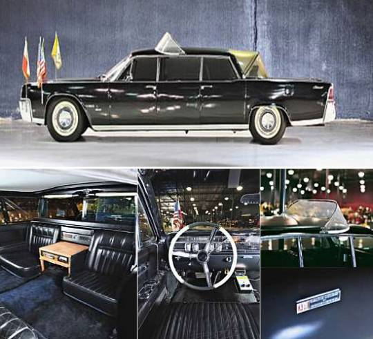 1964 Lincoln Continental limousine Pope mobile