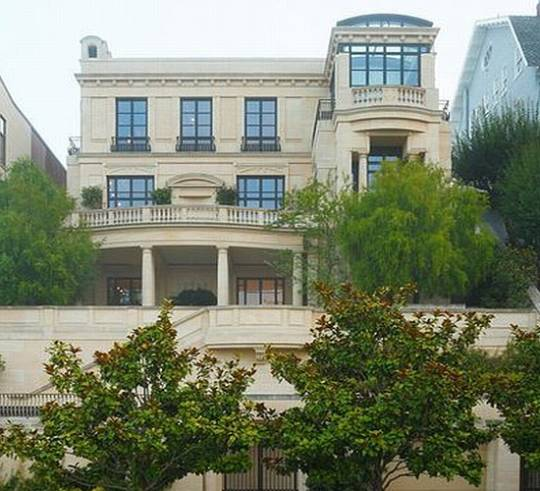 San Francisco Billionaire's Row Mansion exterior
