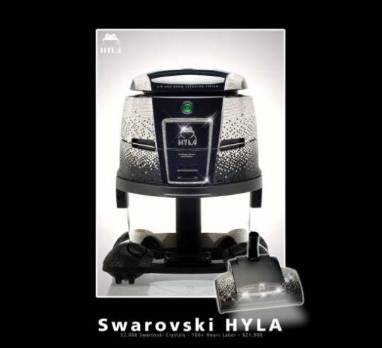 $21,900 Swarovski-Encrusted Vacuum Cleaner by Hyla US