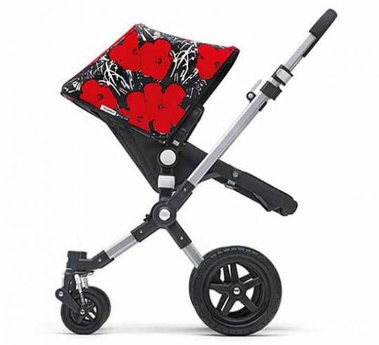 Bugaboo stroller inspired by Andy Warhol's works