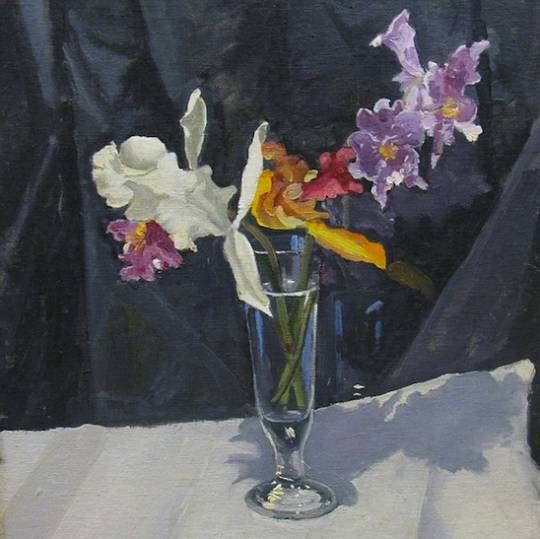 Winston Churchill Orchid Painting