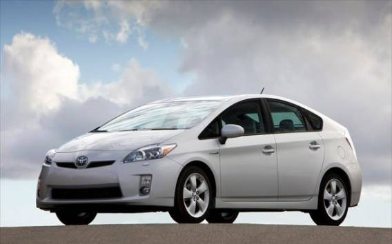 Toyota Prius car - Color: White  // Description: charming