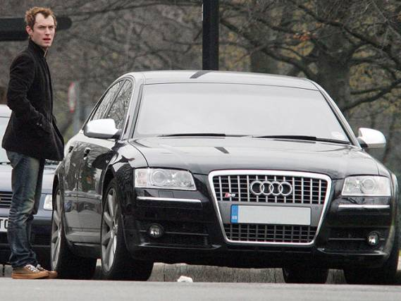 Audi A8 car - Color: Black  // Description: astonishing