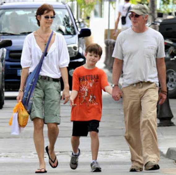 Richard Gere and his wife Carey Lowell visiting the paradise St. Barts island along with their son