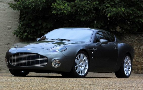 Aston Martin DB7 car - Color: Black  // Description: sleek