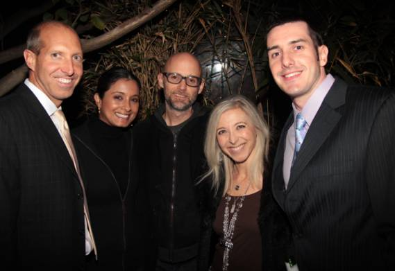 Moby attends Flawless Foundation with (L-R) Kenneth, Agnes Gomes Koizumi, Moby, Kaci Christian and Peter