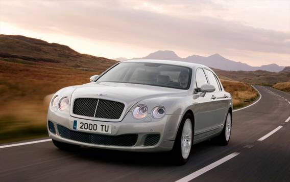 The actress is particularly fond of her $185000 Bentley Continental Flying Spur.
