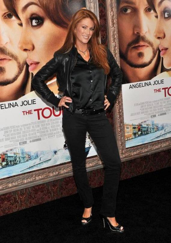 Angie Everhart in black