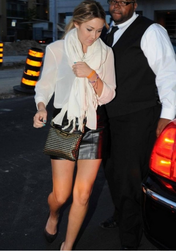 Lauren Conrad often sports the trendy Supernova Studded Rocker Crossbody Bag by Rebecca Minkoff.