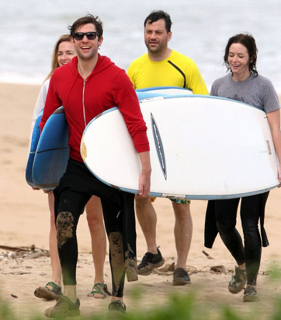 Emily Blunt spent her 2011 New Year vacation in Kauai, Hawaii.