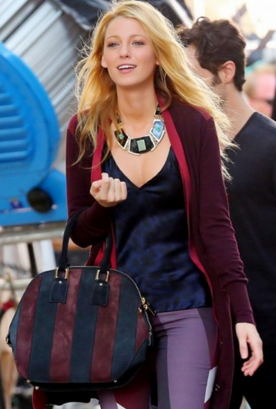 Recently Blake Lively has been spotted carrying the Burberry Orchard bag in New York.