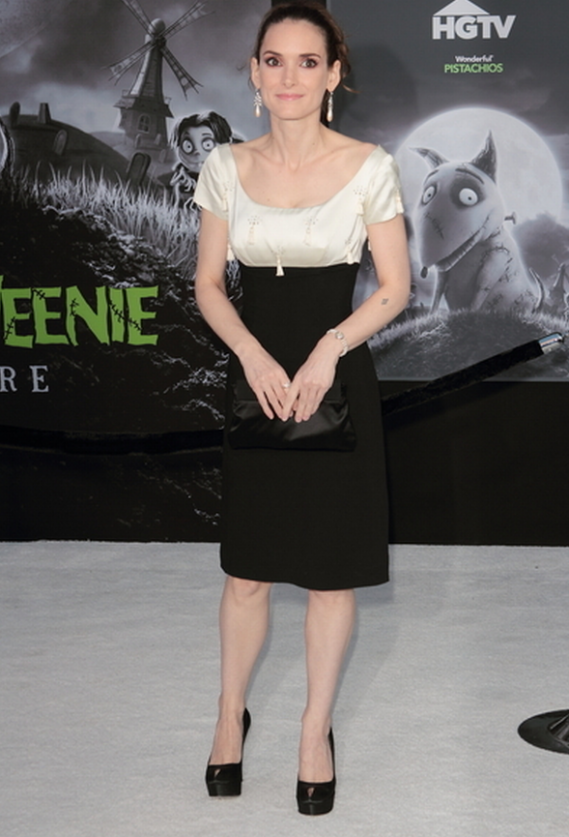 Winona wore her Sergio Rossi Pumps to the premiere of 'Frankenweenie in September 2012.