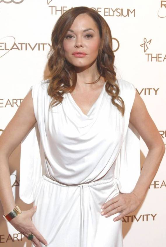 Rose McGowan attends The Art of Elysium program