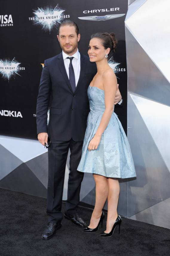 Tom Hardy's with his ex-wife Sarah Ward