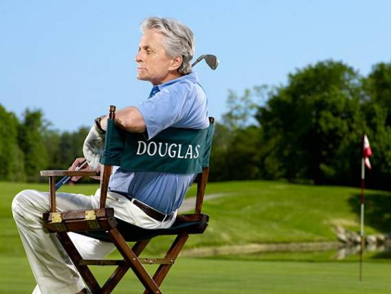 Michael Douglas Plays Golf