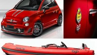 Fiat Abarth inspires SACS dingy speedboat for short stylish cruises at sea