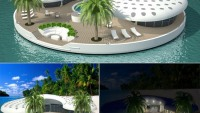 'Ome' floating island residences at Dubai coast