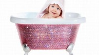 Swarovski studded Baby Bathtub by Lori Gardner